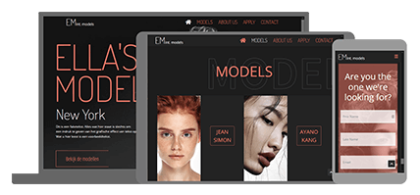 Ella's Models - website
