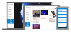 Blues aan Zee website